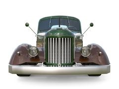 Old restored pickup. Pick-up in the style of hot rod. 3d illustration. Stock Illustration