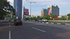 Jakarta drive Hyperlapse Stock Footage
