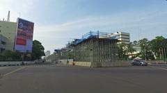 Hyperlase of a drive in Jakarta Stock Footage