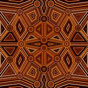 Abstract style of Australian Aboriginal art - stock illustration