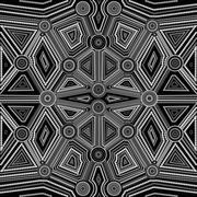 Abstract style of Australian Aboriginal art Stock Illustration