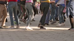 Young Crowd Dancing Stock Footage