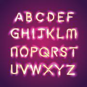 alphabet illumination text group - stock illustration