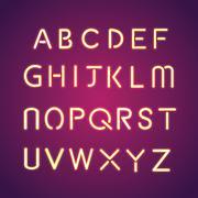 Alphabet illumination text group Stock Illustration