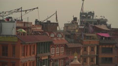 Nepal 1 Year After the Earthquake. Bodhnath View Roofs 4K Stock Footage