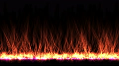 4k Heat fire flame energy baking combustion,radiation rays fireworks particle. Stock Footage