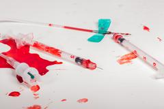 Syringes and IV Lines Covered with Blood Kuvituskuvat