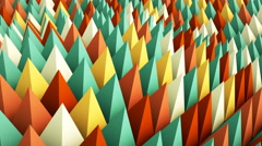 Colorful geometric background. 3D render animation loopable 4k UHD (3840x2160) Stock Footage