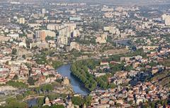 Georgian capital Tbilisi - stock photo