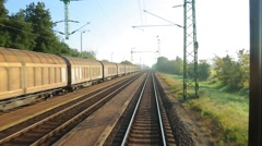 Railway Point of View - stock footage