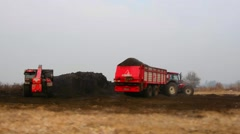 Tractor loader dung - stock footage
