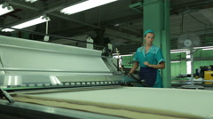 Textile production in a factory Stock Footage