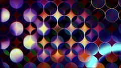 Abstract colored background of circles and segments Stock Footage