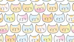 Pattern of pretty cat muzzles Stock Illustration