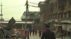 Nepal 1 Year After the Earthquake. Main Square Atmosphere 4K - stock footage