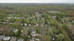 Flying Towards Sikh Temple With Houses And Street In Shot Stock Footage