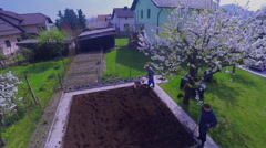 Gardening on a gorgeous spring day Stock Footage