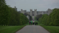 Windsor Castle establishing shot, England Stock Footage