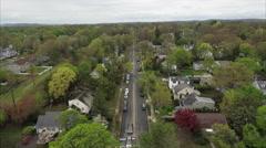 Street Overhead View Of Glen Rock NJ Stock Footage