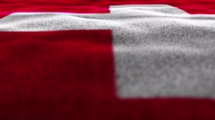 Switzerland Flag, Textile Carpet Background, Move Camera, 4k Stock Footage