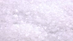 Portion of Coarse Salt (seamless loopable) Stock Footage