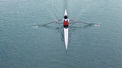Athlete rower - stock footage