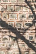 Ancient islamic wall on mosque - stock photo