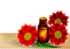 aromatherapy - stock illustration