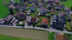 Spring time in a beautiful small village Stock Footage