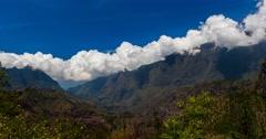4K, Time Lapse, Epic Clouds At Mountain Range, Cilaos, Reunion Stock Footage