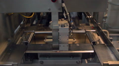 Strapping Machine for Industrail Packaging Line Stock Footage