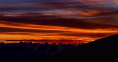4K, Time Lapse, Sunrise at Piton De La Fournaise, Reunion Stock Footage