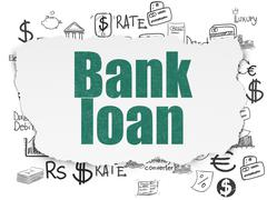 Banking concept: Bank Loan on Torn Paper background Stock Illustration