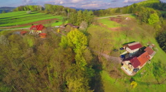 A few houses in a gorgeous nature Stock Footage