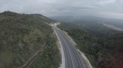 Drone above highway in mountain - 6 Stock Footage