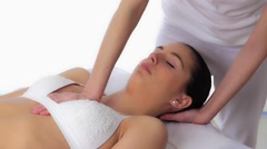 Osteopathic female torso massage Stock Footage