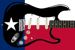 Texas Flag Guitar Stock Illustration