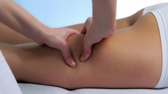 Reductive cellulite massage Stock Footage