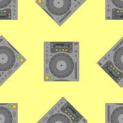 Vector musical equipment seamless pattern. Stock Illustration