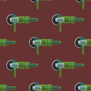 Vector angle grinder seamless pattern. Stock Illustration