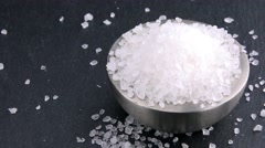 Rotating Coarse Salt (4K, not loopable) - stock footage