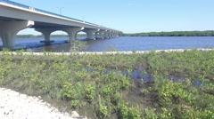 South Florida Bridge in Martin County Stock Footage