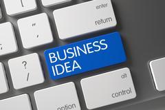 Blue Business Idea Keypad on Keyboard Stock Illustration