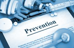 Prevention. Medical Concept. 3D - stock illustration