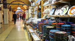 Commercial passage in the Grand Bazaar. Istanbul, Turkey. Slow motion Stock Footage