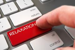 Relaxation on Keyboard Key Concept Stock Illustration