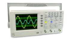 Seamless loop animation. moving sine wave on an oscilloscope - stock footage