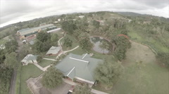 Drone view of garden compound - stock footage