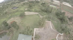 Drone view of garden compound 2 - stock footage
