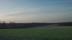 Sunrise over farmland, rural morning Time Lapse of daybreak Stock Footage